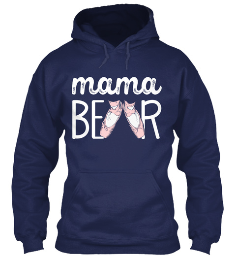 Mama Bear Navy T-Shirt Front