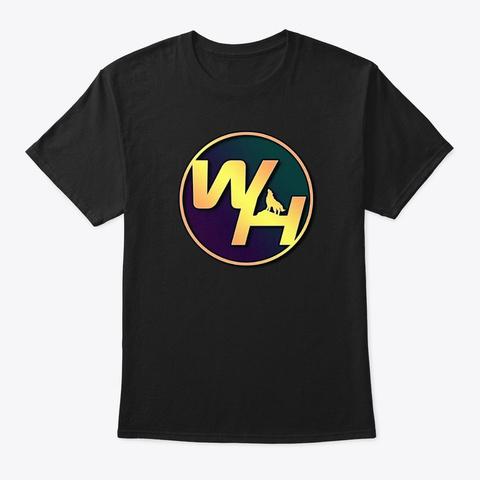 Wolf Heathen Logo Merch Black T-Shirt Front