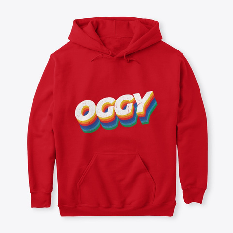 90's Oggy Red T-Shirt Front