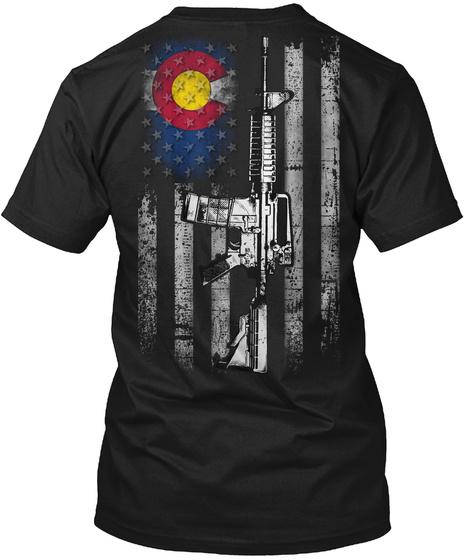 Colorado 2nd Amendment Black T-Shirt Back