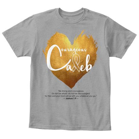 Courageous Caleb Light Heather Grey  T-Shirt Front