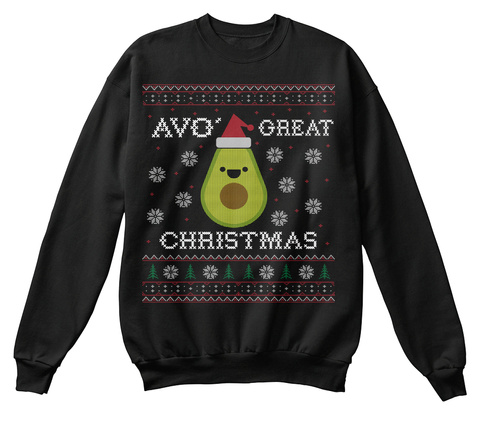 Avo Great Christmas Jet Black T-Shirt Front