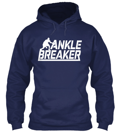 Ankle Breaker Navy T-Shirt Front
