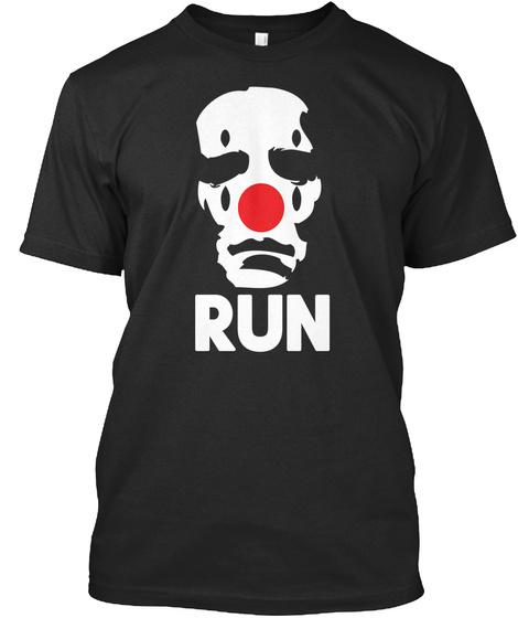 Run Black T-Shirt Front