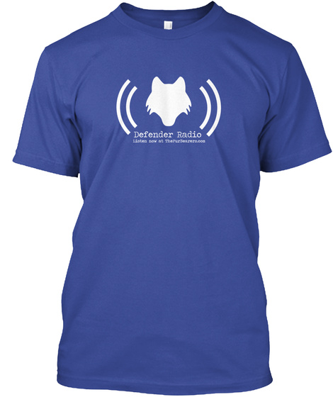 Defender Radio Deep Royal T-Shirt Front