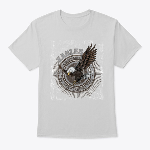 Eagles Performance   Awesome Eagle Lover Light Steel T-Shirt Front