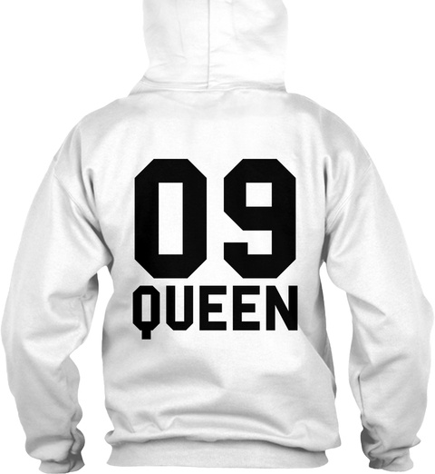 09 Queen Arctic White T-Shirt Back