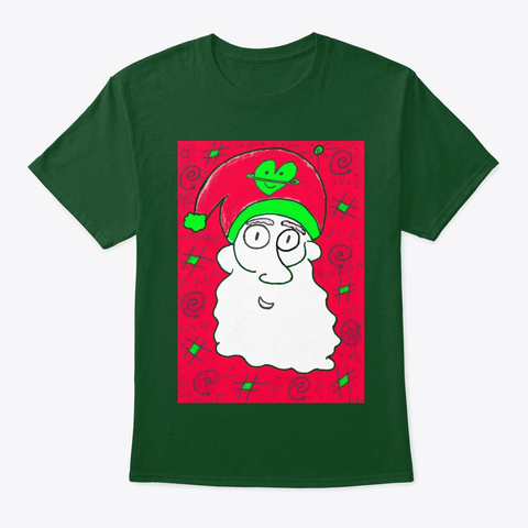 Gramzin Christmas Santa 2019 Limited Deep Forest T-Shirt Front