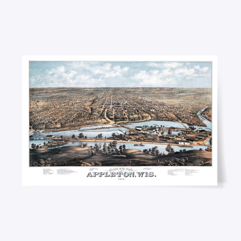 Appleton, Wi 1874 Map Standard T-Shirt Front