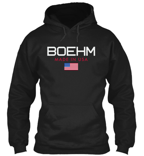Boehm Made In Usa Black T-Shirt Front