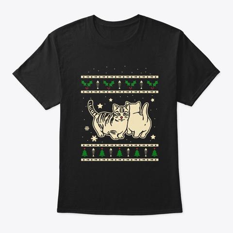Christmas Munchkin Gift Black T-Shirt Front