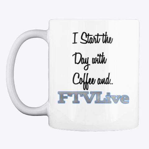 Coffee And Ftv Live  White T-Shirt Front