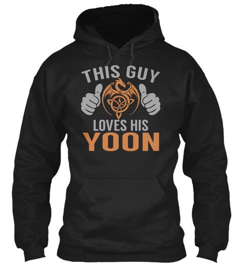 Yoon   Guy Name Shirts Black T-Shirt Front