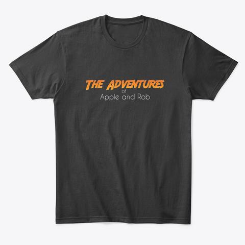One Big Adventure  Black T-Shirt Front