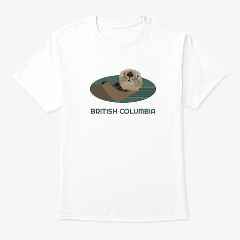 British Columbia Otter Pnw Tribal White T-Shirt Front