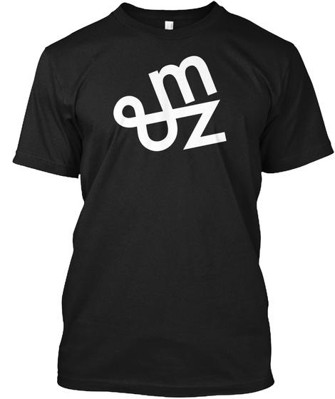 Mz Tees Logo Black T-Shirt Front