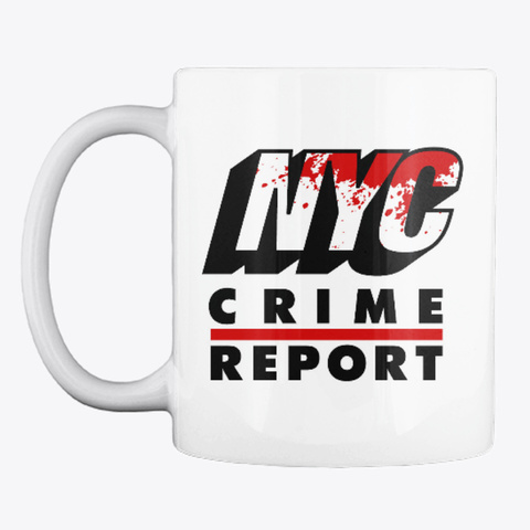 New York City Crime Report Classic Line White T-Shirt Front