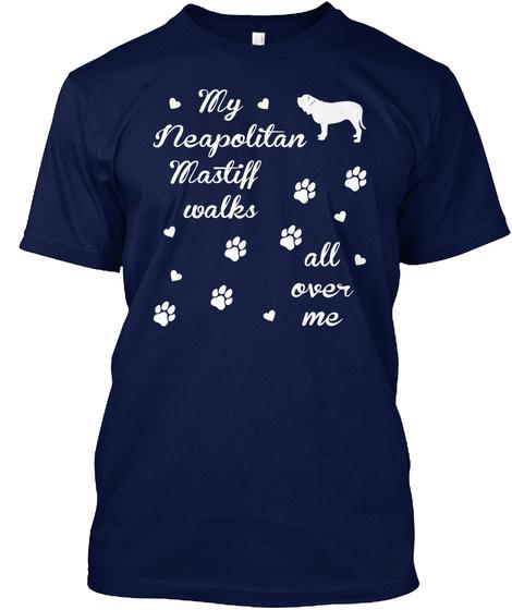 Neapolitan Mastiff Navy T-Shirt Front