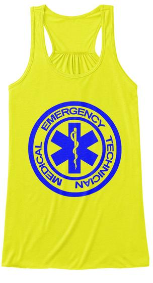 Medical Emergency Technician Neon Yellow T-Shirt Front