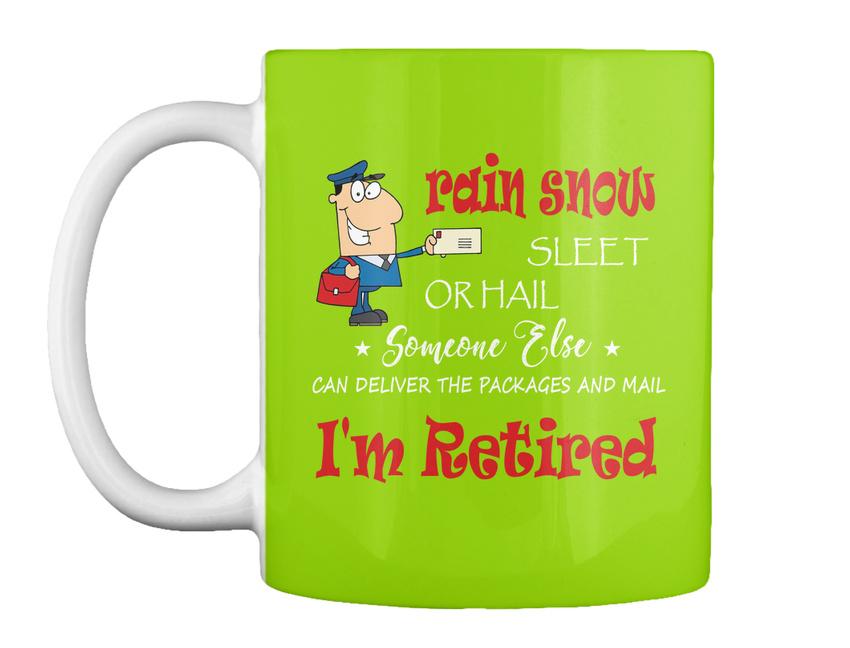 miniature 73 - Funny Retired Postal Worker Mailman Tee - Rain Suck Sleet Or Gift Coffee Mug