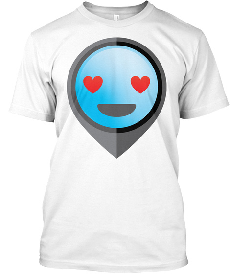 Pointer Emoji Heart And Love Eyes White T-Shirt Front