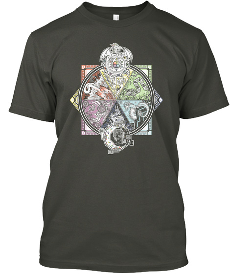 U Realms   Dragon Aspects [Official] Smoke Gray T-Shirt Front