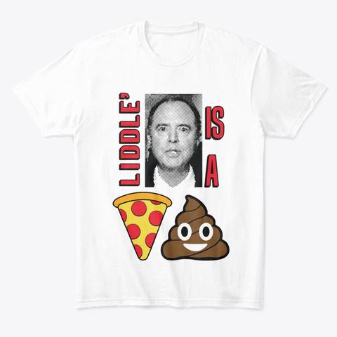 Liddle Adam Pizza Sht White T-Shirt Front
