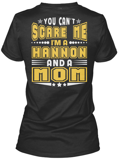 Hannon Thing And Mom Shirts Black Women's T-Shirt Back
