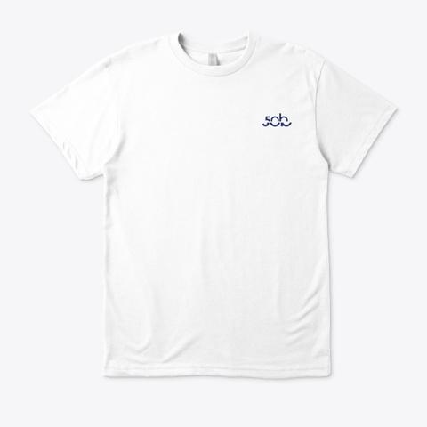 Stingray Hand Signal · Eco T Shirt White T-Shirt Front