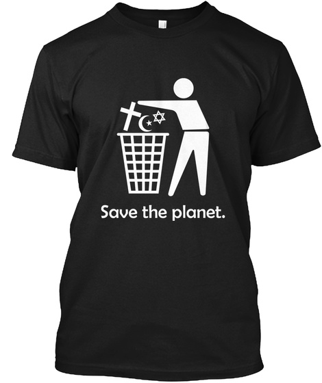 Save The Planet Black T-Shirt Front