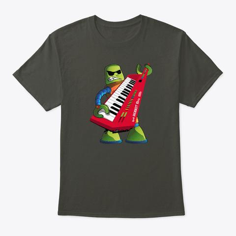 Keytar Robot Smoke Gray T-Shirt Front