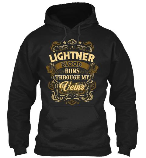 Lightner Blood Run Through My Veins Black T-Shirt Front
