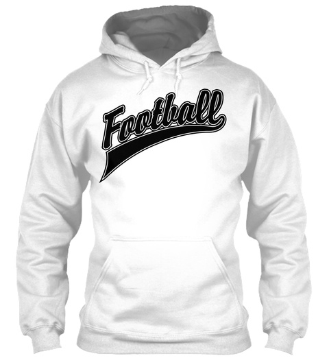 Football White T-Shirt Front