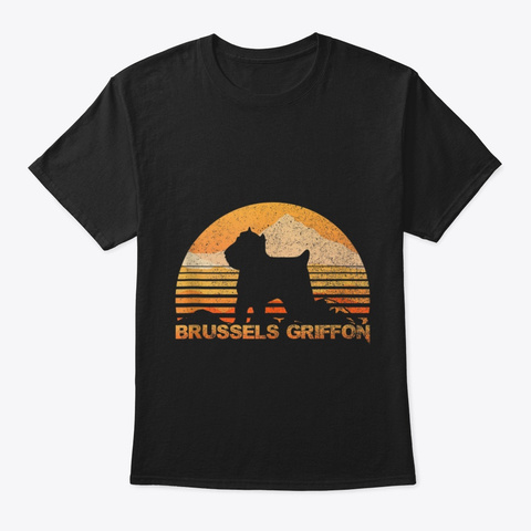 Brussels Griffon Tank Top Vintage Retro Black T-Shirt Front