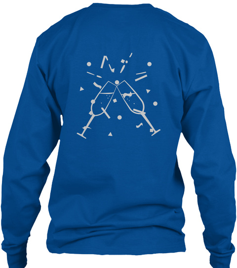 New Year's Day  Royal Long Sleeve T-Shirt Back