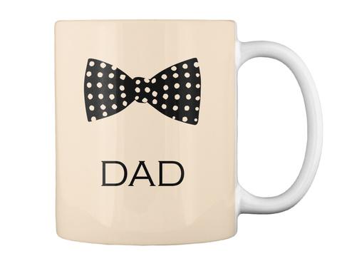 Bow Tie Mug For Dad! Creme Mug Back