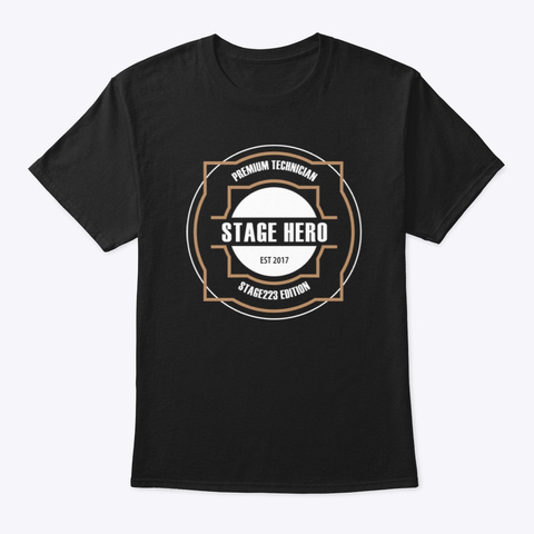 Stagehero   The Premium Technician Black T-Shirt Front