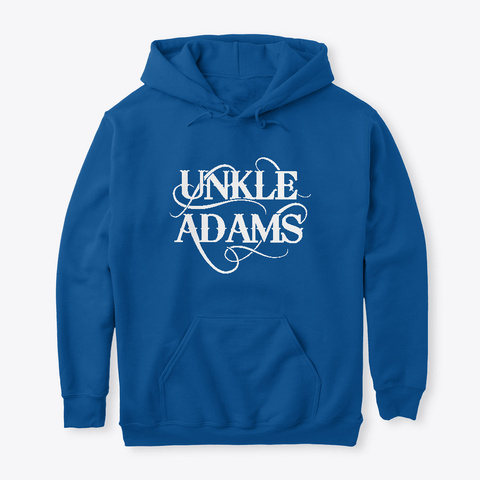 Classic Unkle Adams Merch (Pick A Color) Royal T-Shirt Front