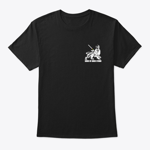 White Lion Range Black T-Shirt Front