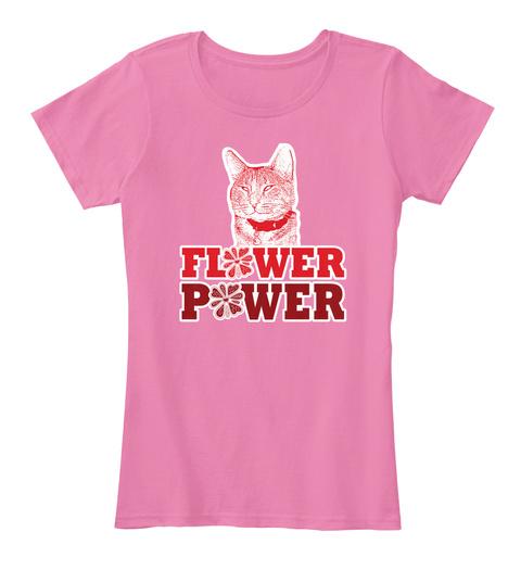 Flower Power True Pink T-Shirt Front