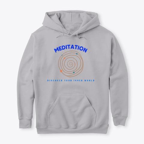 Meditation Sport Grey T-Shirt Front