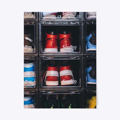 Sneaker Wall Poster Standard T-Shirt Front