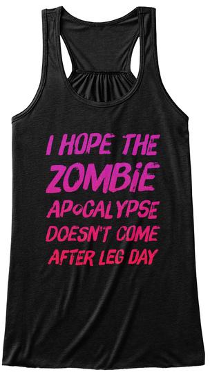 Zombie Apocalypse Black T-Shirt Front