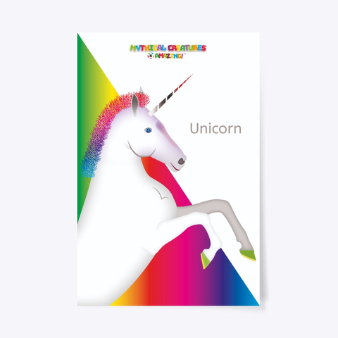 Unicorn – 'R' Amazing Poster Standard T-Shirt Front