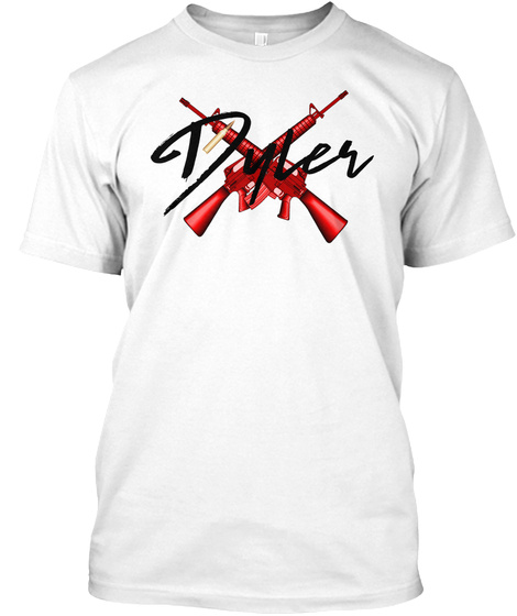Dyler White T-Shirt Front