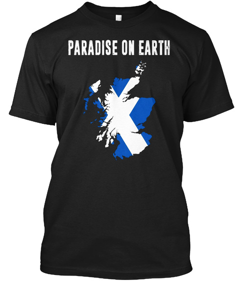 Paradise On Earth Black T-Shirt Front