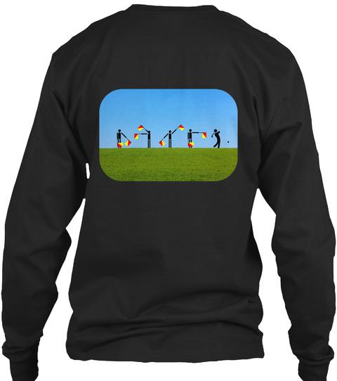 Semaphore Fun And Games   Golf Black T-Shirt Back