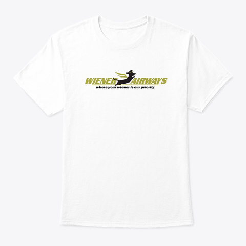 Wiener Airways White T-Shirt Front