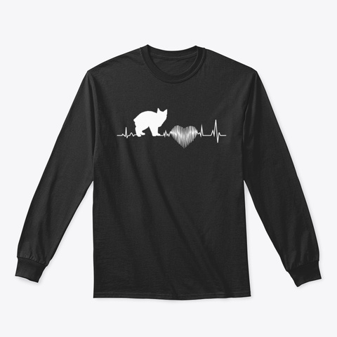 Cymric Cat Epeyg Black T-Shirt Front