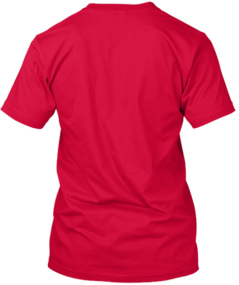 Canadian Voice Funny Canada Accent Gift Red T-Shirt Back